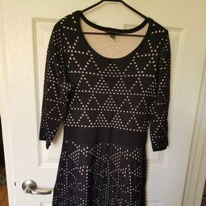 Black/nude Sweater Dress - cute - never worn